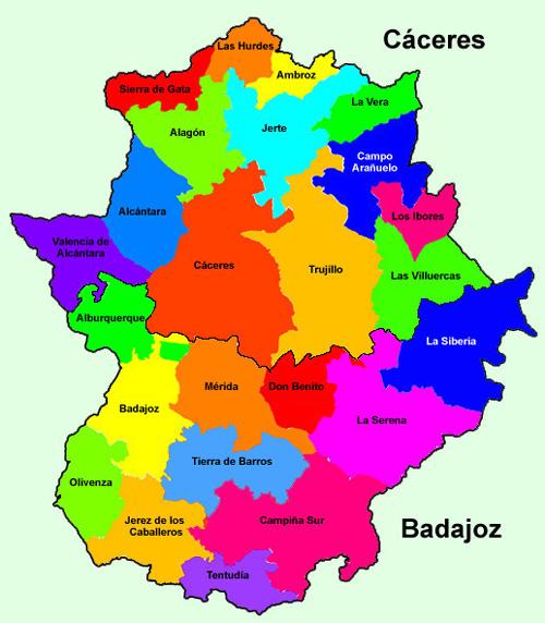 Mapa De Extremadura Comarcas.El Bosque De Los Suenos De Librin Librin Viajara Por