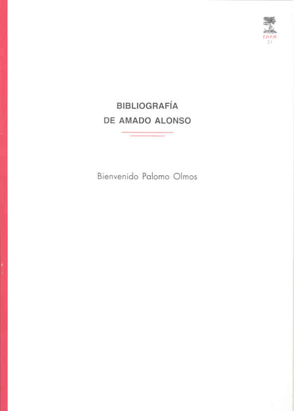 Bibliografía de Amado Alonso